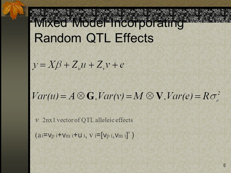7 BLUP equations for Fernando and Grossman model