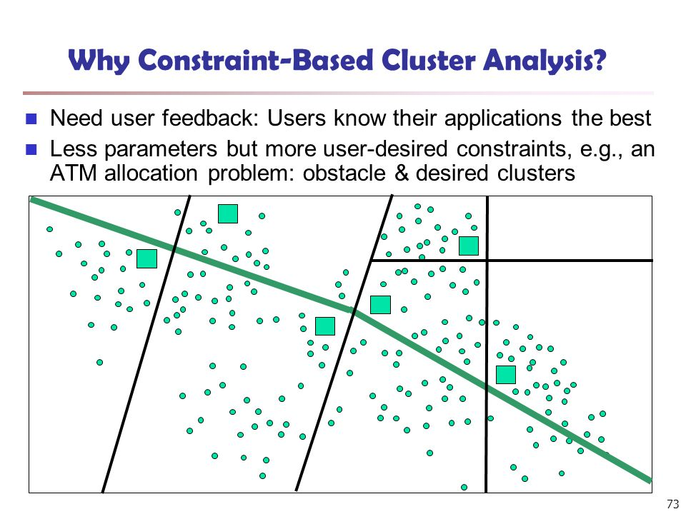 73 Why Constraint-Based Cluster Analysis.
