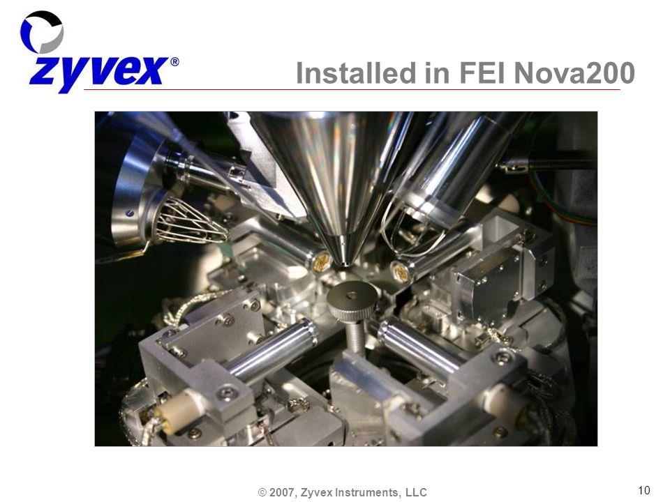 © 2007, Zyvex Instruments, LLC 10 Installed in FEI Nova200