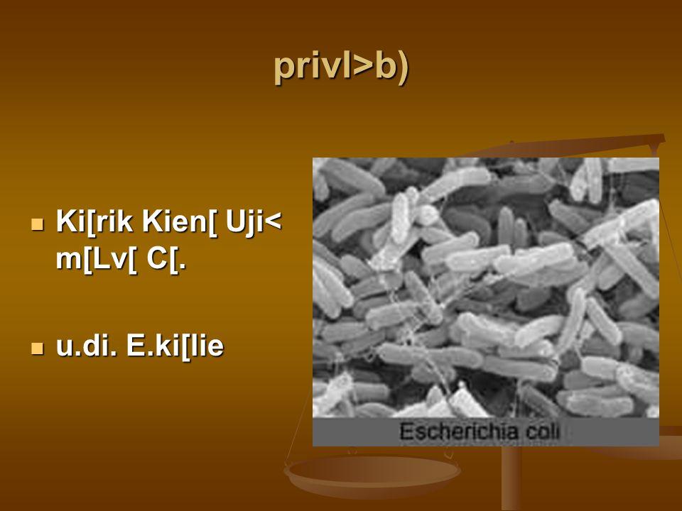 privl>b) Ki[rik Kien[ Uji< m[Lv[ C[. Ki[rik Kien[ Uji< m[Lv[ C[. u.di. E.ki[lie u.di. E.ki[lie