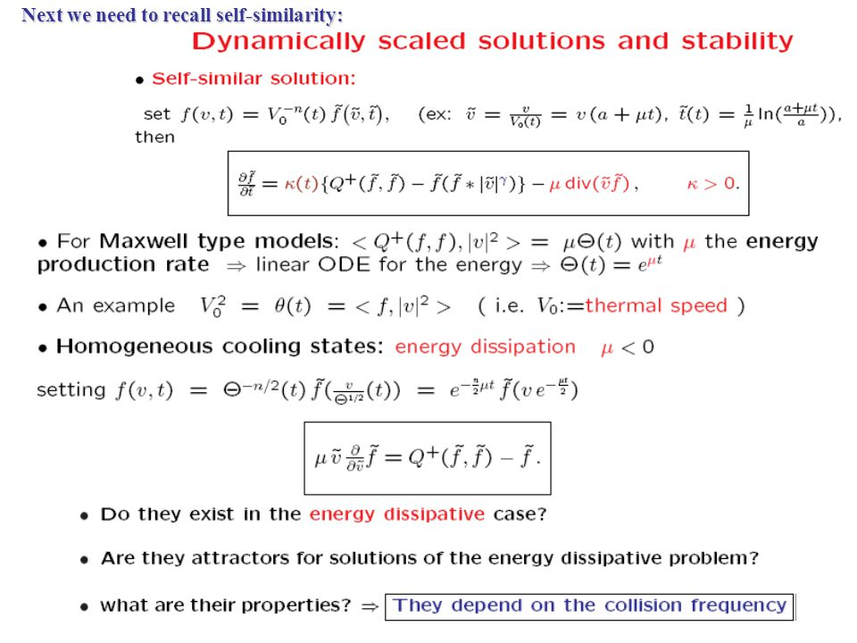 Non-Equilibrium Stationary Statistical States Energy dissipation implies the appearance of