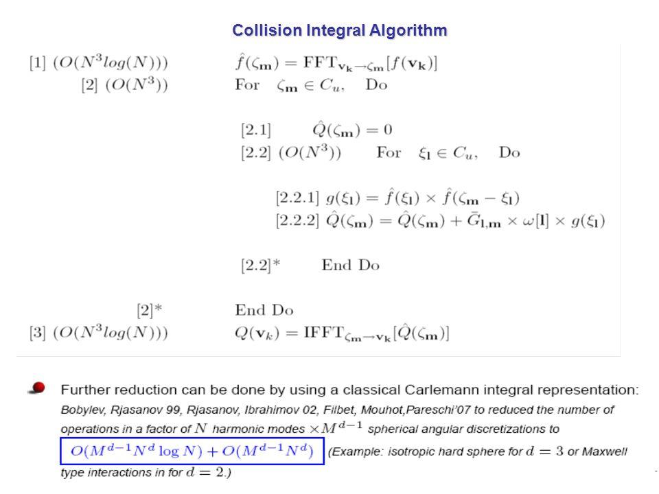 Collision Integral Algorithm