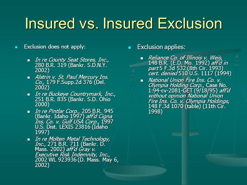 Insured vs.