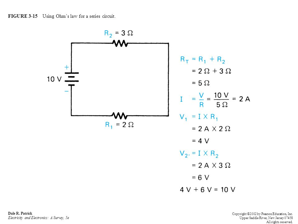 FIGURE 3-15 Using Ohm's law for a series circuit. Dale R.