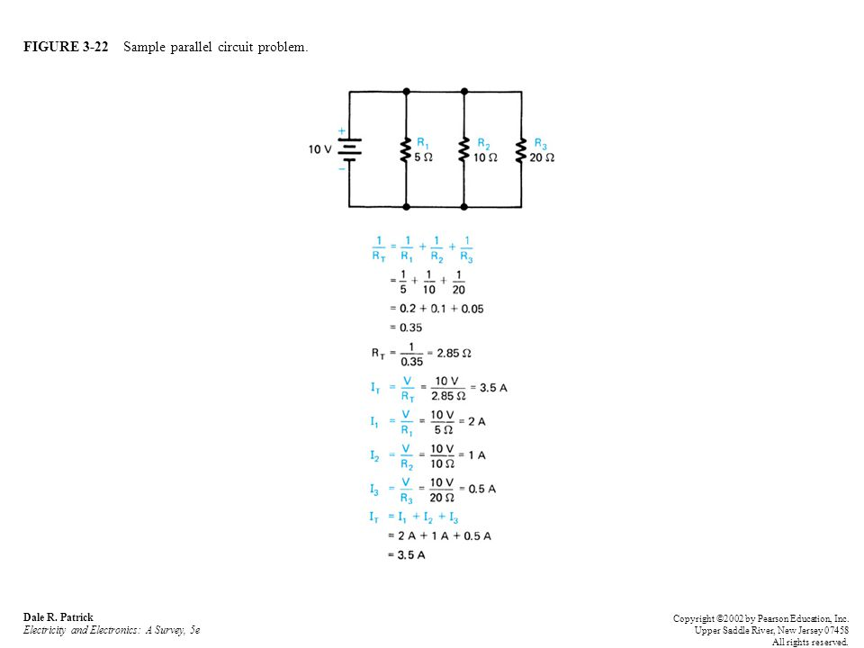 FIGURE 3-22 Sample parallel circuit problem. Dale R.
