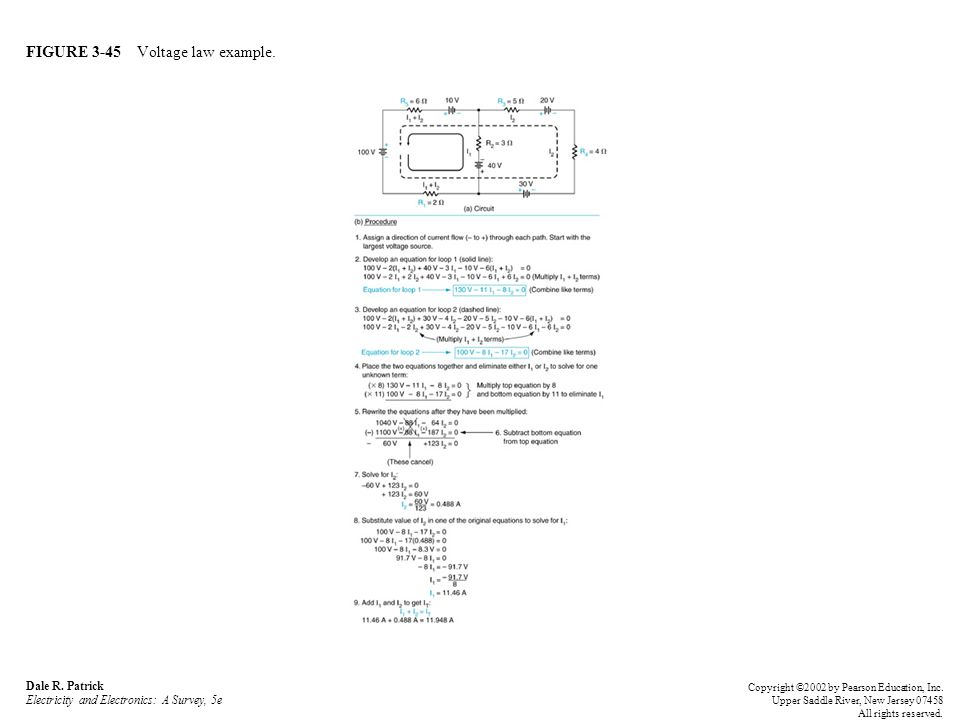 FIGURE 3-45 Voltage law example. Dale R.