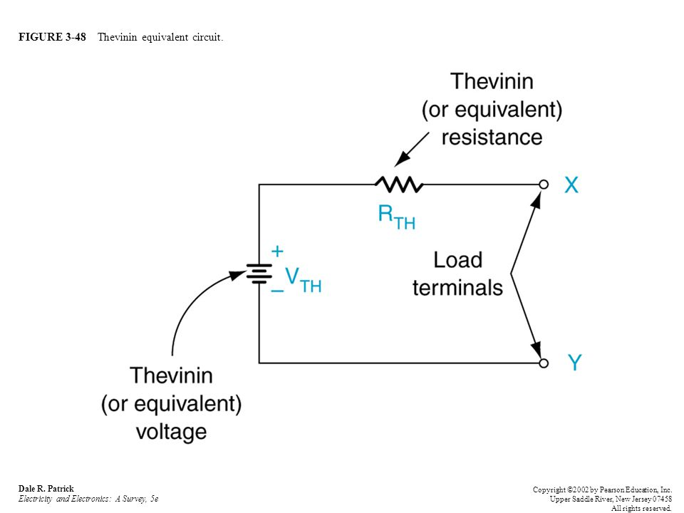FIGURE 3-48 Thevinin equivalent circuit. Dale R.