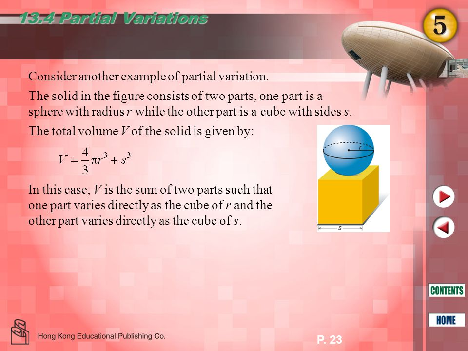 P. 23 13.4 Partial Variations Consider another example of partial variation.