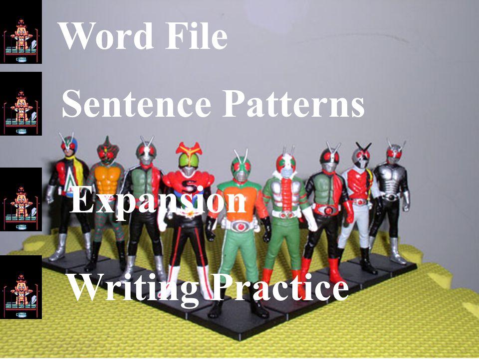 Word File Sentence Patterns Expansion Writing Practice