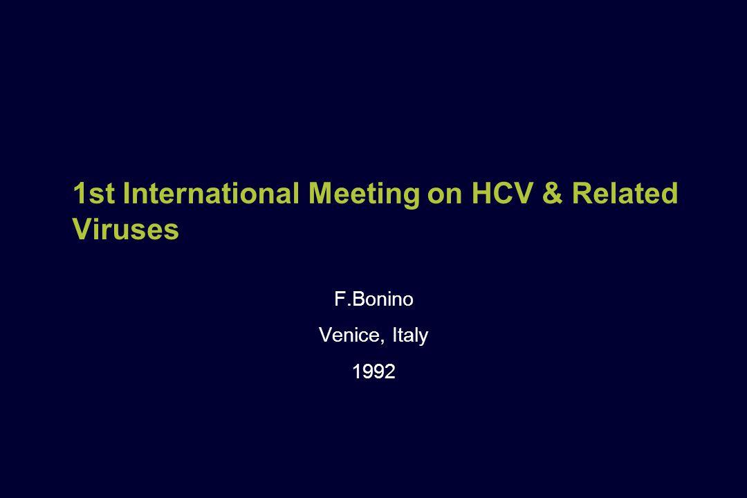 1st International Meeting on HCV & Related Viruses F.Bonino Venice, Italy 1992