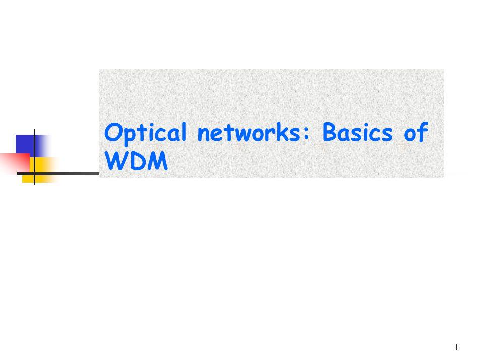 1 Optical networks: Basics of WDM
