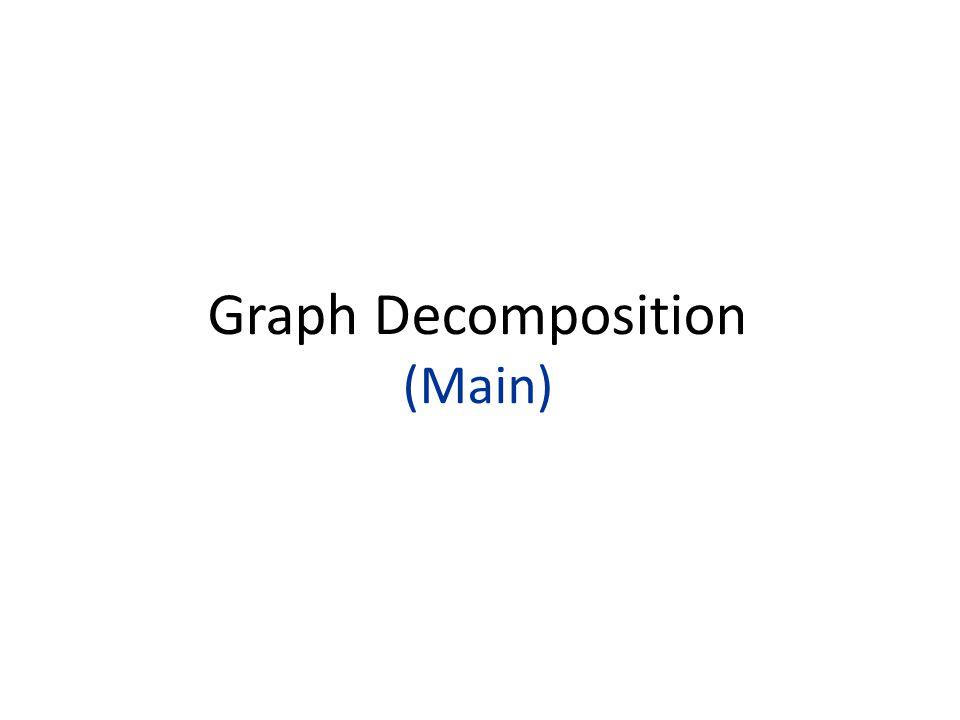 Graph Decomposition (Main)