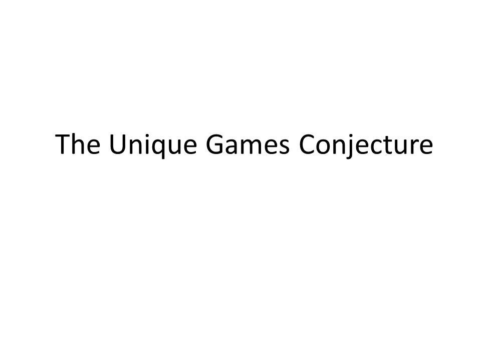 The Unique Games Conjecture