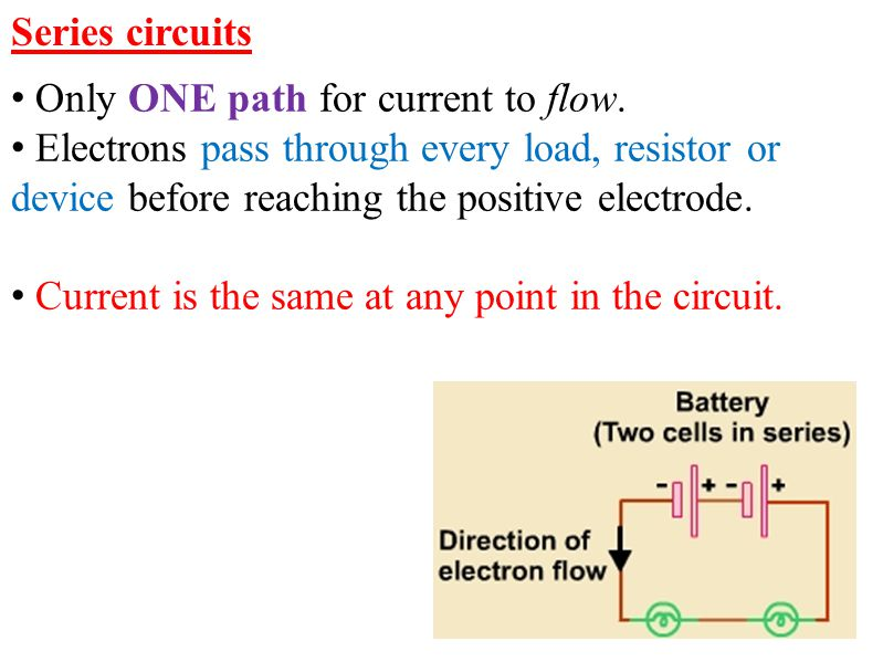 If the values of the three resistors are: R 1 = 8 Ω R 1 = 4 Ω 1/R T = 1/8 + 1/8 + ¼ = ½ R T = 2 Ω I = V = 10 = 5.0 A R 2 10 V
