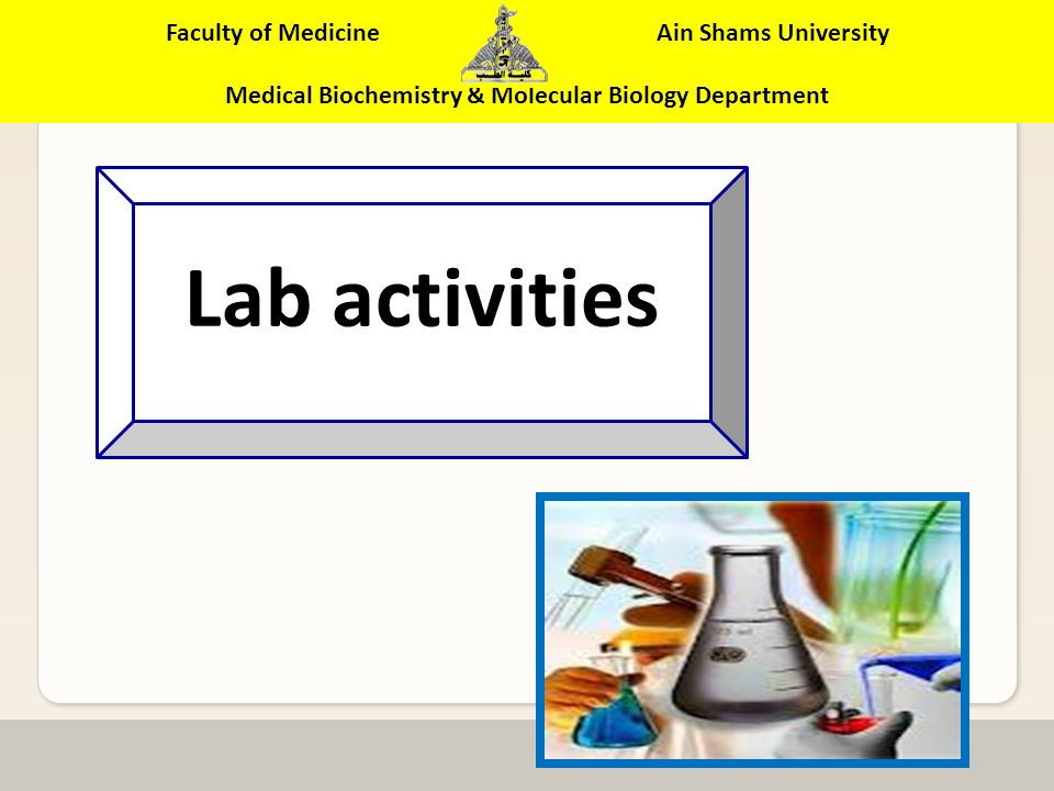Faculty of Medicine Ain Shams University Medical Biochemistry & Molecular Biology Department UnitsSymbolDefinition Mass Percent% m/m Mass Solute/Mass solution x 100 Volume Percent% v/v Volume Solute/Volume solution x 100 Mass / Volume Percent % m/v Mass Solute/Volume solution x 100% MolarityM Moles solute/L solution NormalityN Gram equivalent/L solution Part per millionppm Summary of Concentration Summary of Concentration units