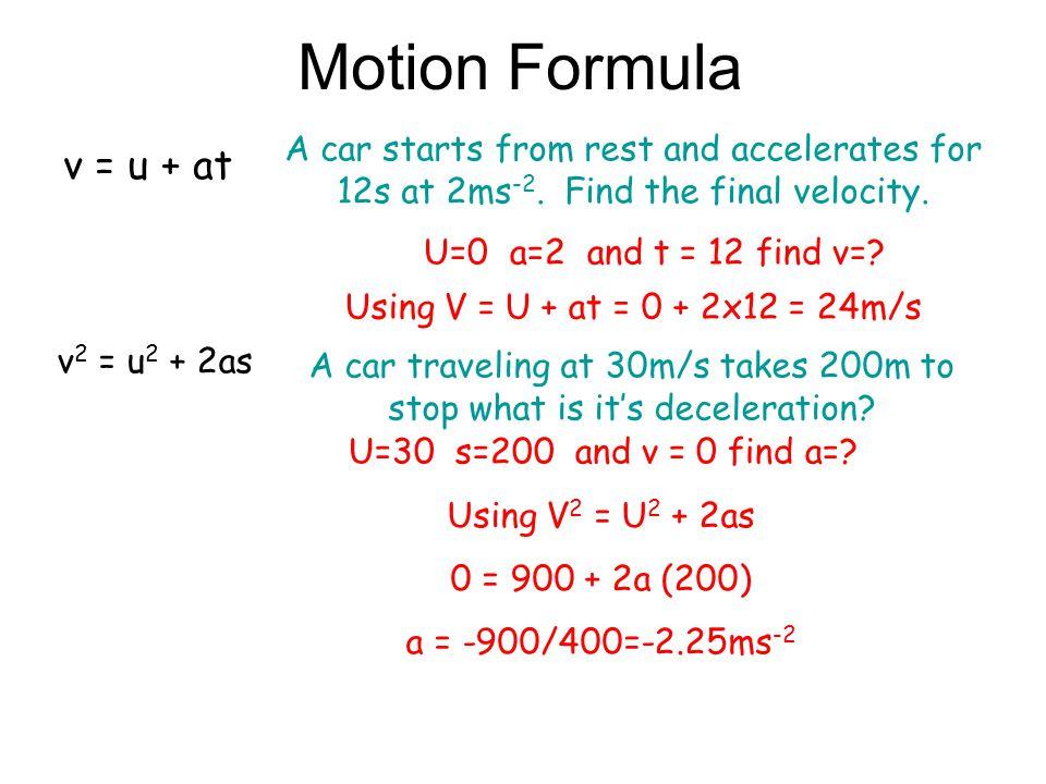80 60 40 20 0 10 20 30 4050 Velocity m/s T/s 40x20=800 Total Distance Traveled =200+100+800+600=1700m 0.5x10x40=200 0.5x10x20=100 0.5x20x60 =600