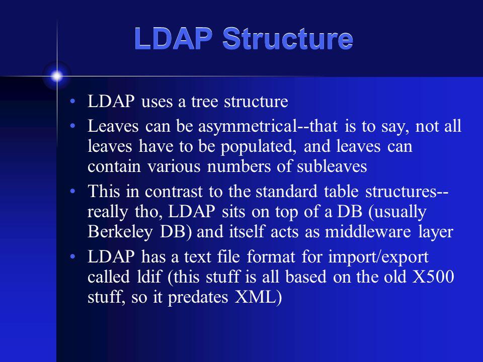 $pid_list_raw = file( ./pids_list.txt ); $pid_list = array_unique($pid_list_raw); $x=0; while ($pid_list[$x] != ) { // using ldap bind // using ldap bind $ldaprdn = pid=700554021,dc=unc,dc=edu ; // ldap rdn or dn $ldaprdn = pid=700554021,dc=unc,dc=edu ; // ldap rdn or dn // connect to ldap server // connect to ldap server $ldapconn = ldap_connect( ldap.unc.edu:389 ) $ldapconn = ldap_connect( ldap.unc.edu:389 ) or die( Could not connect to LDAP server. ); or die( Could not connect to LDAP server. ); if ($ldapconn) if ($ldapconn) { $ldapbind = ldap_bind($ldapconn); $ldapbind = ldap_bind($ldapconn); // verify binding // verify binding if ($ldapbind) if ($ldapbind) { //echo LDAP bind successful...