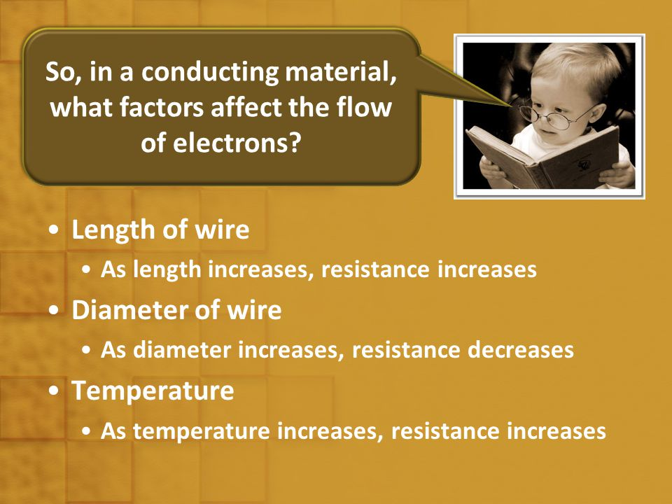 Resistance Measure of how a material or object opposes the flow of current Ratio of pd across resistor and current in the resistor