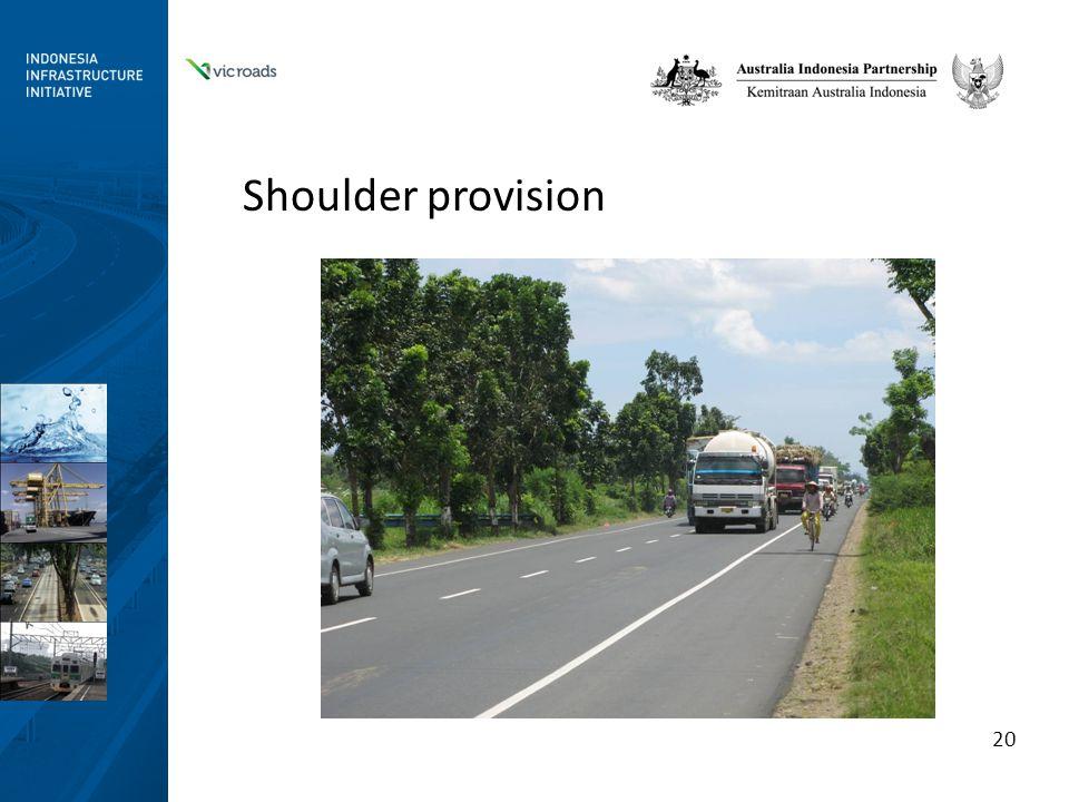 Shoulder provision 20