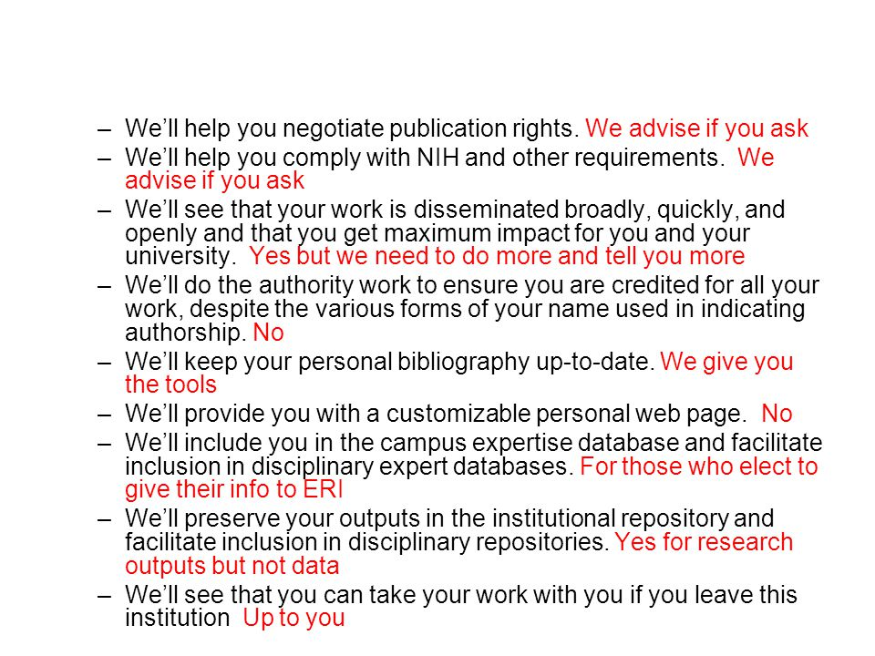 –We'll help you negotiate publication rights.