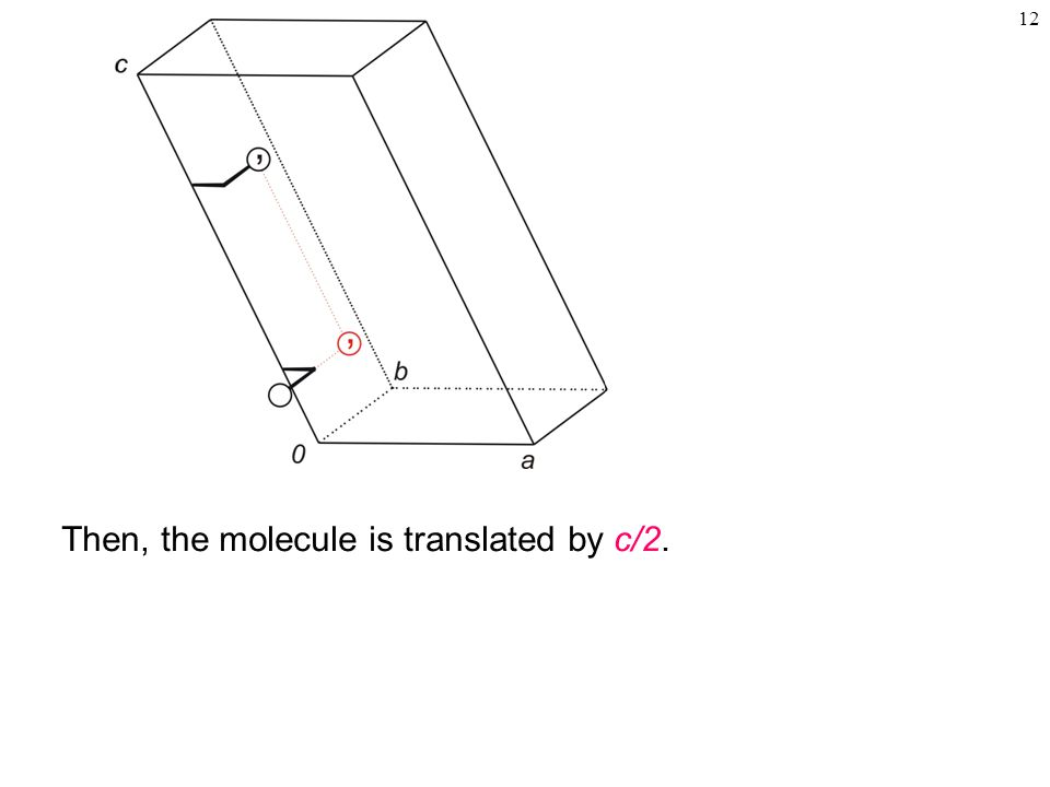 12 Then, the molecule is translated by c/2.