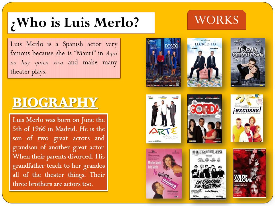 ¿Who is Luis Merlo.