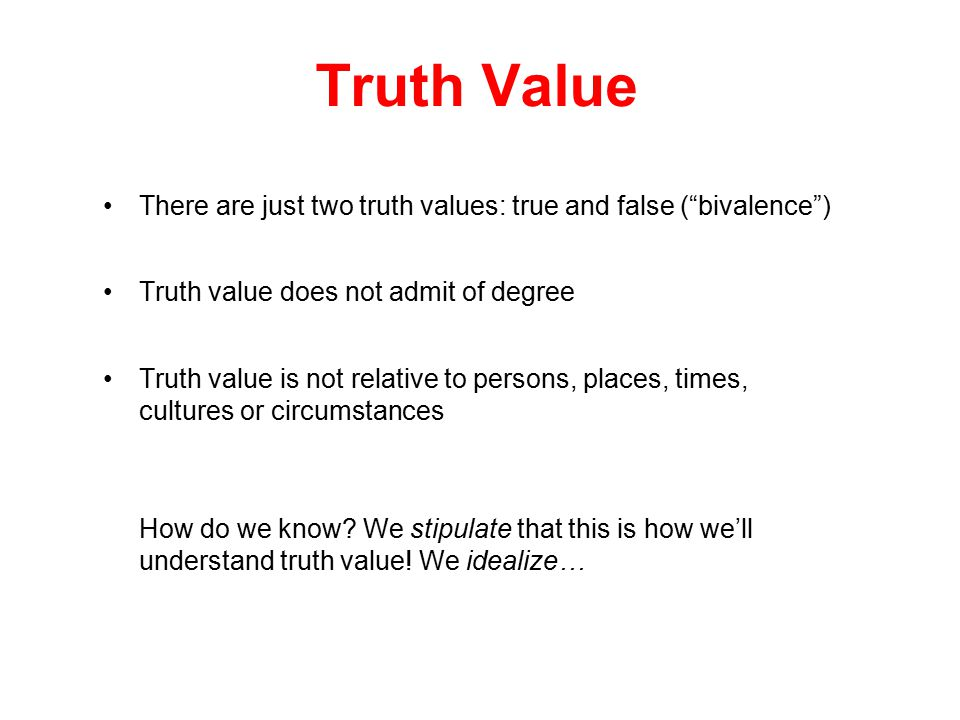 Truth Correspondence with reality
