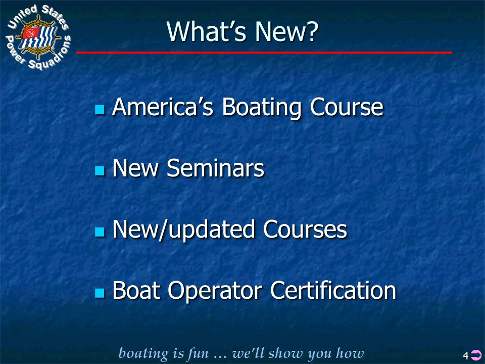 boating is fun … we'll show you how 4 What's New.