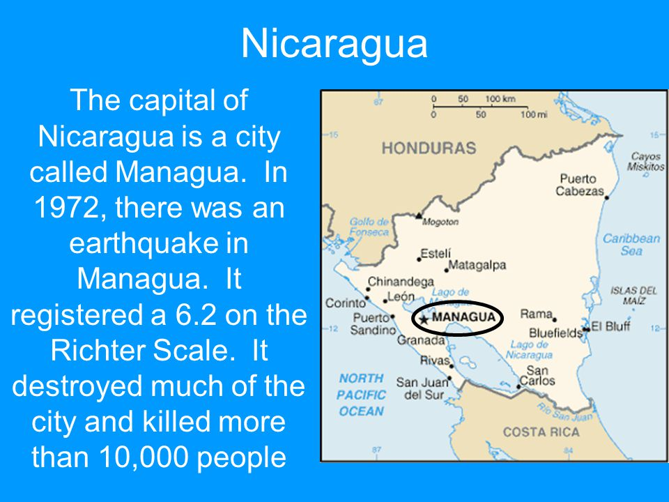 The capital of Nicaragua is a city called Managua.