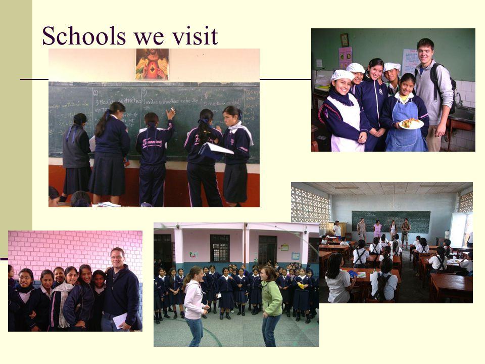 Schools we visit