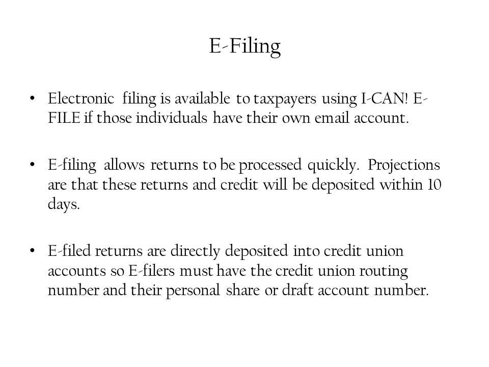 Credits you can claim on I-CAN.E-Filed I-CAN.