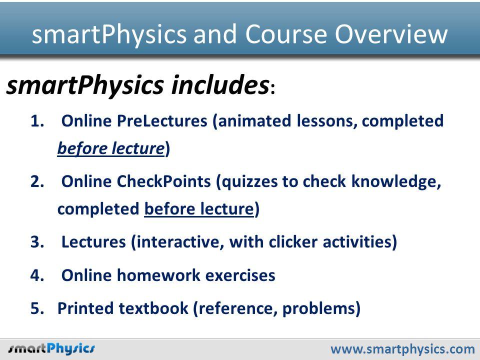 www.smartphysics.com smartPhysics includes : 1.