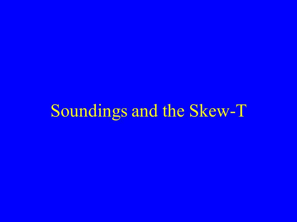 Soundings and the Skew-T
