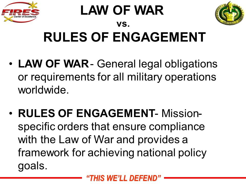THIS WE'LL DEFEND LAW OF WAR vs.