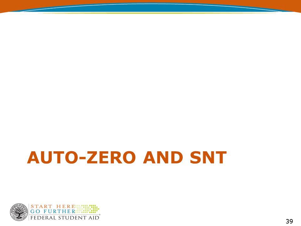 AUTO-ZERO AND SNT 39