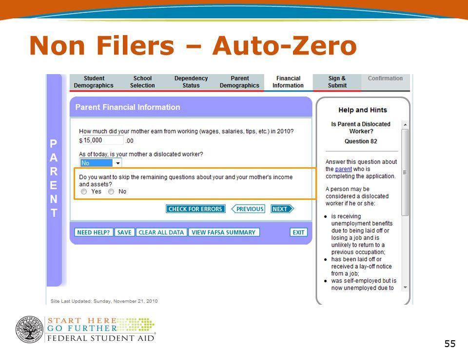 Non Filers – Auto-Zero 55