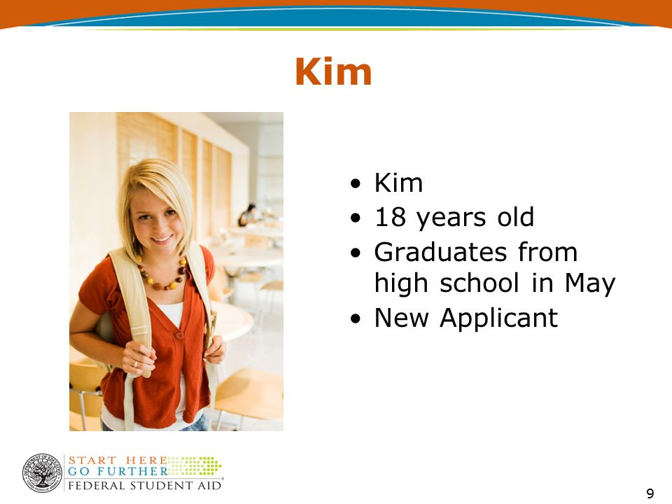 Kim 18 years old Graduates from high school in May New Applicant 9