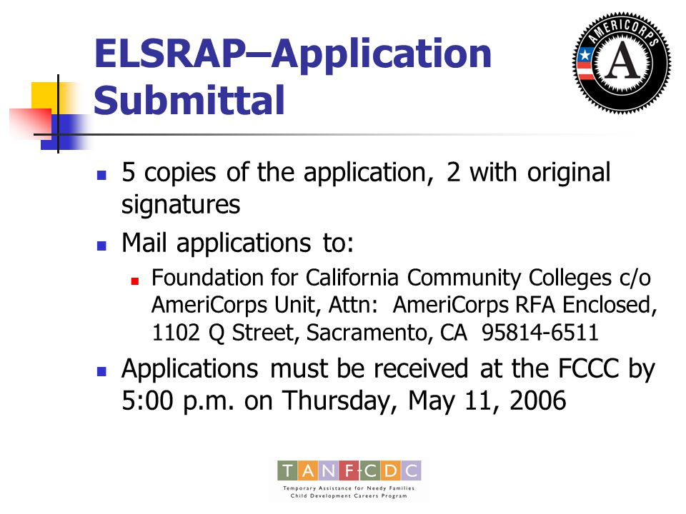 ELSRAP – Partnership Support Letters Should be submitted on the letter head of the partner Should include specifics of the partnership commitment, e.g.