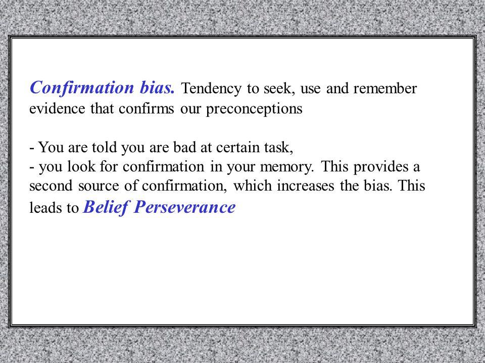 Confirmation bias.