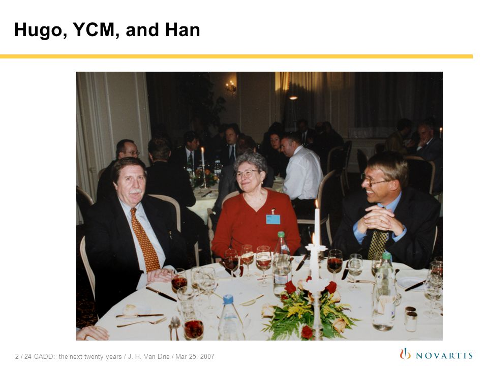 3 / 24 CADD: the next twenty years / J.H. Van Drie / Mar 25, 2007 Why 20 years.