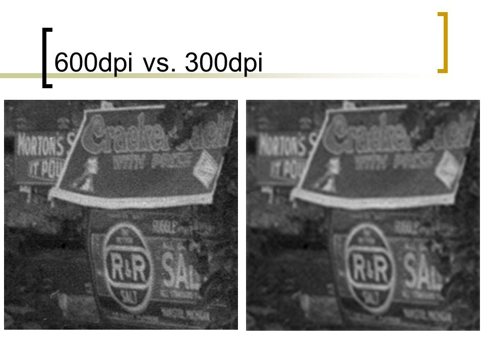600dpi vs. 300dpi