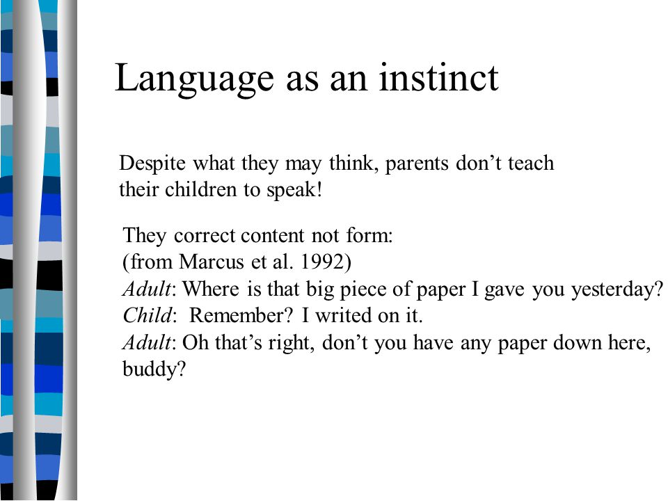 How do we acquire languages.