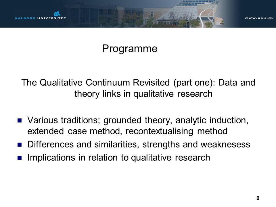 Præsentation af Aalborg Universitet 3 af 31 The Qualitative Continuum 1.0.