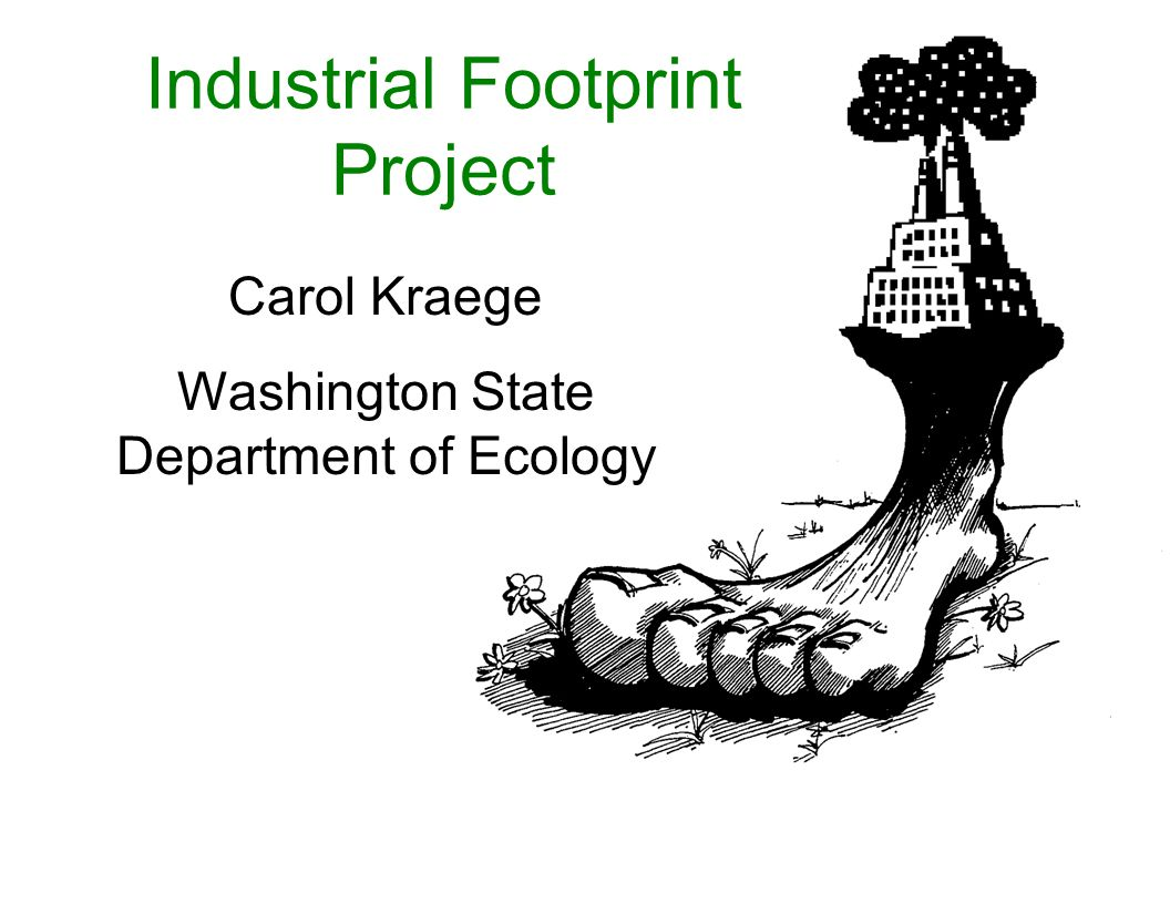 Industrial Footprint Project Carol Kraege Washington State Department of Ecology