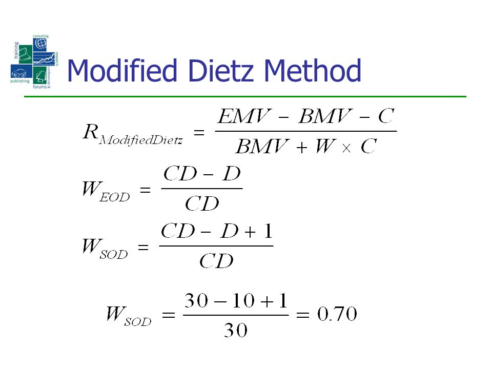 Modified Dietz Method