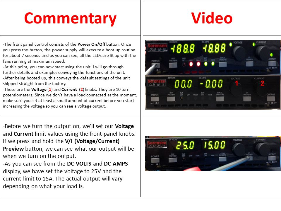 CommentaryVideo -Next, we'll configure the Over Voltage Protection.