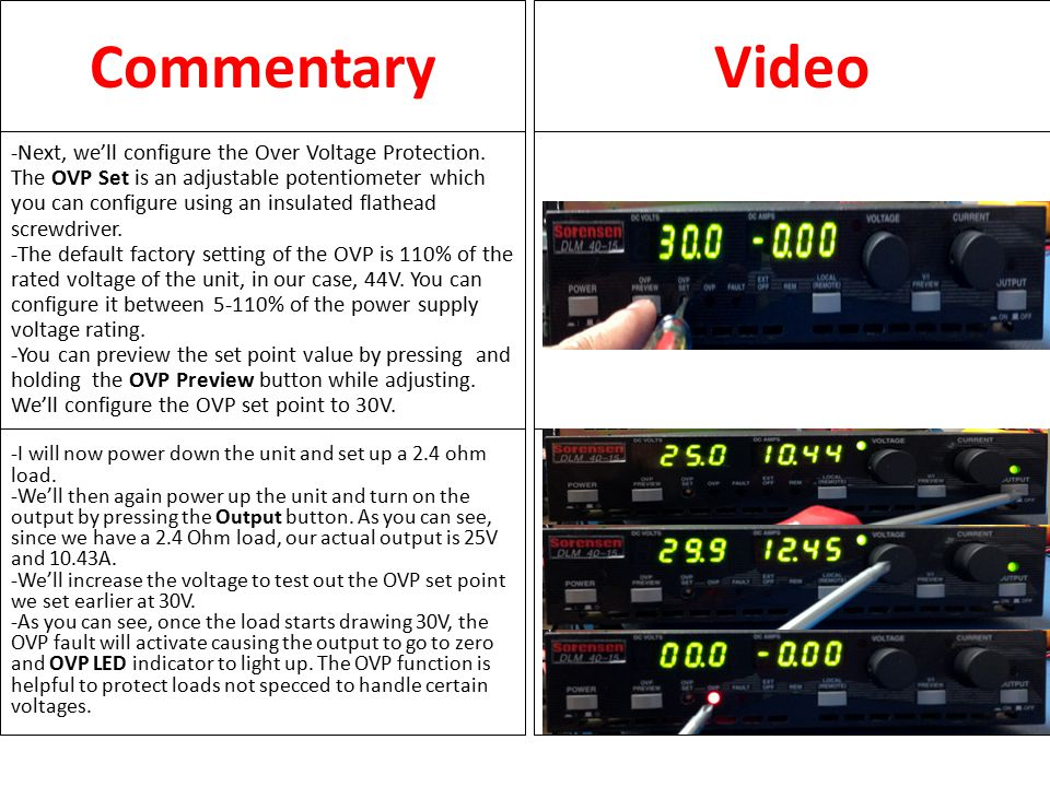 CommentaryVideo -Other LED indicators on the front panel include the FAULT LED.