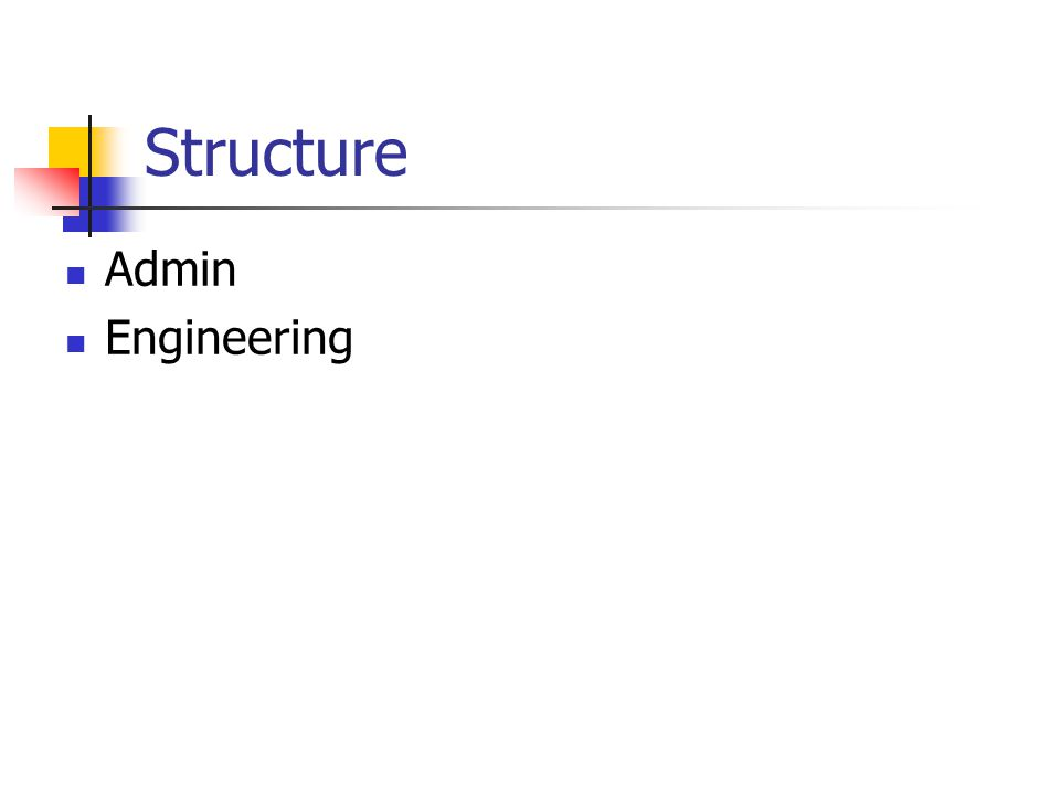 Structure Admin Engineering