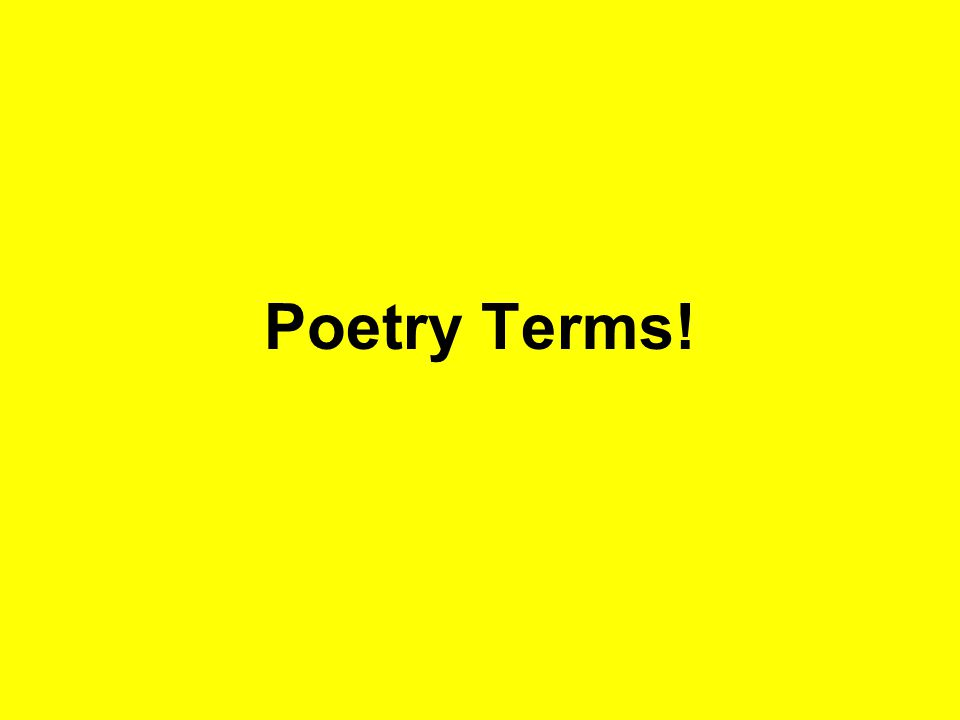 Poetry Terms!