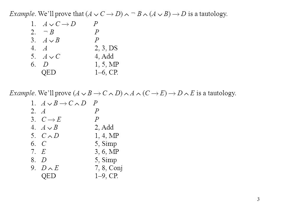 4 Subproofs A subproof is a proof that is part of another proof.